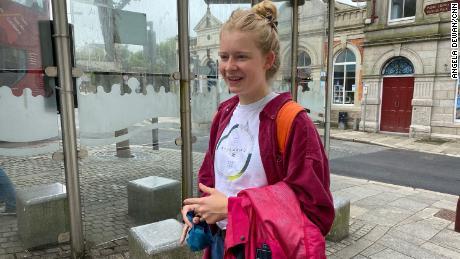 Martha Richards, una residente di Redroth che ha appena finito il liceo, non pensa che il G7 farà molto per la sua città.