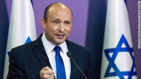 Naftali Bennett rilascia una dichiarazione politica alla Knesset a Gerusalemme, 30 maggio 2021.