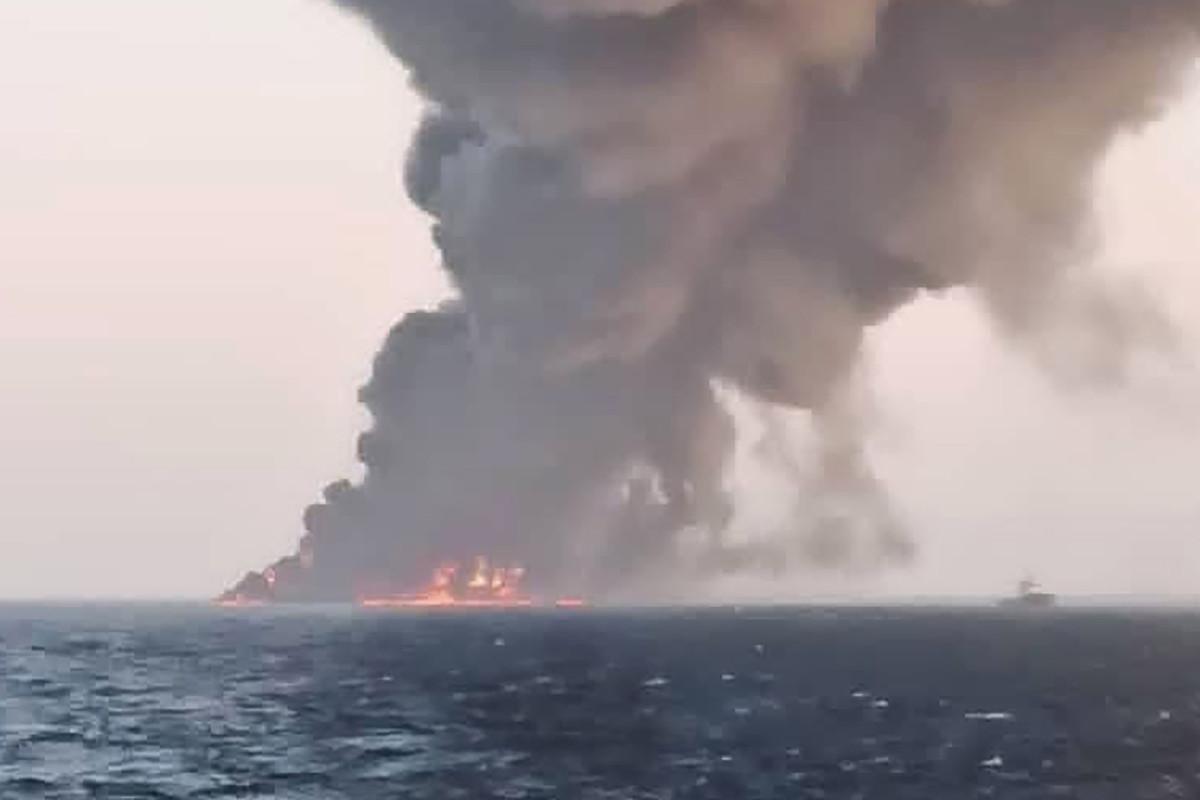 Una nave da guerra iraniana è affondata nel Golfo dell'Oman
